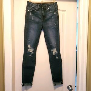FIDELITY High Rise Skinny Jeans Size 25